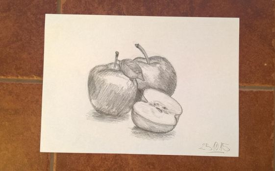 Apples drawing by basgroll