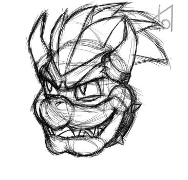 Bowser Sketch by dramateen01