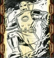 Iron Man sketchcard inks by Schoonz
