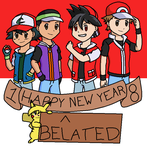 Happy (Belated) New Year 2018! by PKMNTrainerSpriterC