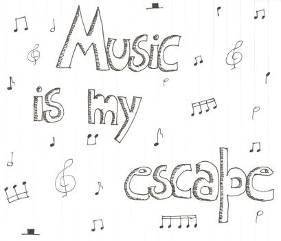 Music is my escape by GothRockRomance333