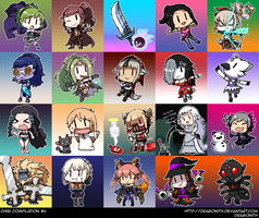 Chibi Compilation #5 by Dragonith