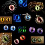 Custom Ordered Set - Bracelets pendants loose eyes by LadyPirotessa