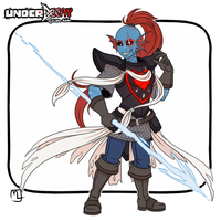 Underdecay- Undyne the 'undying' genocide by Little-Noko