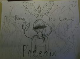 Phoenix [Rough Sketch] by DragonWolfGirl2