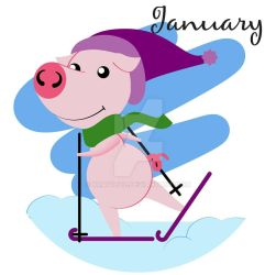 Piggy for every month in 2019 January by Krav1tzz