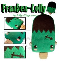 Franken Lolly the plushie by fuzzy-jellybeans