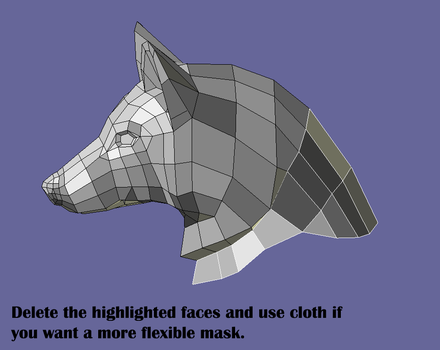Wolf's Head Model For Pepakura by Cow-Tail