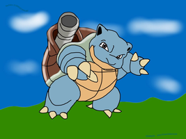 Blastoise (+copyright sign, DA page and youtube) by jomy10