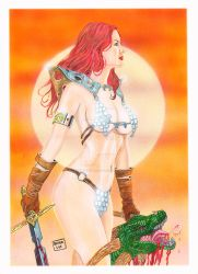 Red Sonja (5) by OLIVERLEE12ARTS