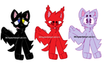 Bat Adoptables {OPEN} {RE-UPLOAD} by iiLetsRockx2