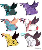 fluffmoth adoptable batch OPEN by Koraille