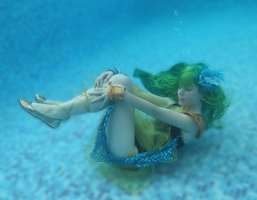 Rydia - Under the water by Yurai-cosplay