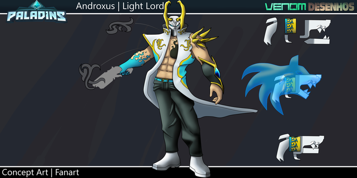 Androxus Light Lord - FanSkin - Paladins by VenomDesenhos