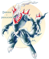 Feraligatr X Darkrai by Seoxys6