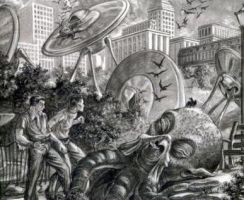 Rare War of the Worlds Art by Cryptdidical