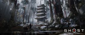 Ghost of Tsushima - Pagoda by iancjw