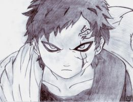 Gaara of the Sand by lazy-perfs