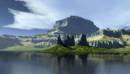 The Rocks On The Lake by zioSergio
