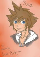kingdom hearts:sora collab :D by Animequeen111