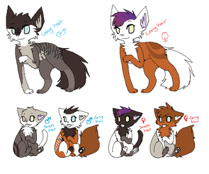 Cute bab family adopts - OPEN by The-Lion-Skull