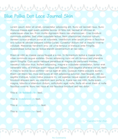 Blue Polka Dot Lace Journal Skin by Sugary-Stardust