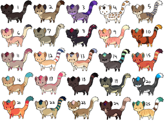 25 adoptables CLOSED by CitruShark