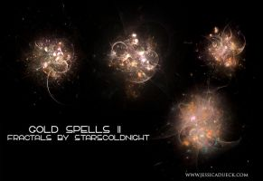 Gold spells II fractals by starscoldnight by StarsColdNight