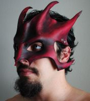 Ruby Great Dragon Mask by Epic-Leather