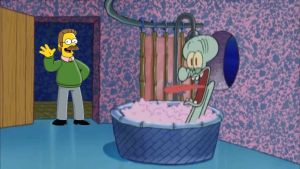 Ned Flanders drops by Squidwards House by Wildcat1999