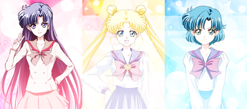 SAILOR MOON CRYSTAL - Rei, Usagi And Ami