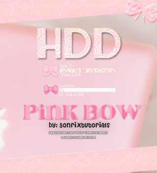 Skin Pink Bow HDD for Rainmeter by a-Sonrix