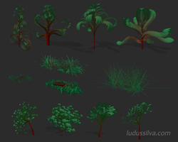 Ludus silva Plant Editor - early prototype by jayelinda