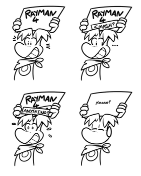 Rayman at E3 by raygirl