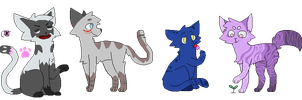 [SALE] 10 point cat adopt (1/4 open) by Cheapest-Adopts
