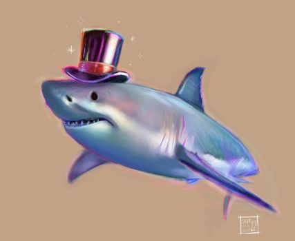 Sketch Daily, 6/22 - Party Shark by ResidentFrankenstein