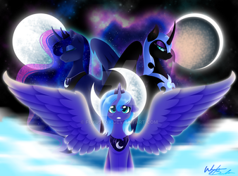 Phases of the Moon by FuyusFox