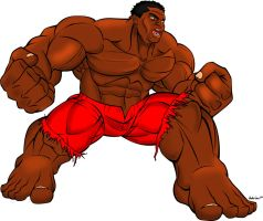 I'm The HULK  Colored by bbbhyt