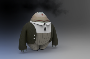 Zbrush Doodle Day 693 - Gloom 'Inside Out' update by UnexpectedToy
