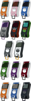 Digimon Savers/Next - All Digivice iC HD + Lines by NelaNequin