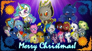 Pony Christmas Wallpaper by Wolf-DavidLoveII