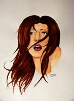 Aquarell woman by death-of-roots