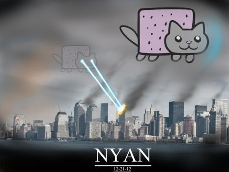 Nyan Cat apocalypse by SirNerdly