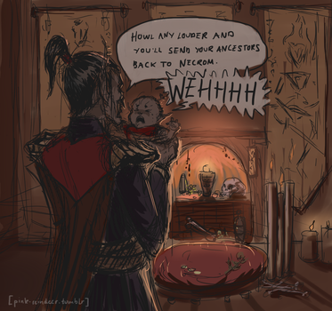 Tiny Lleryn Does Not Want by Velothii