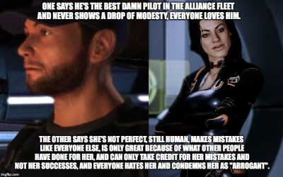 Example of Mass Effect Fandom Hypocrisy #2 by Spider-Bat700