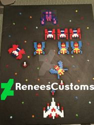 Galaga Perler Board 16X19 by ReneesCustoms
