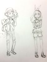 PokemonTrainers Orlando (Brendan) and Anna (May) by KawaiiManaphy