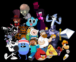 All Stars Smash Bros Crossover Characters Set A by PhotographerFerd