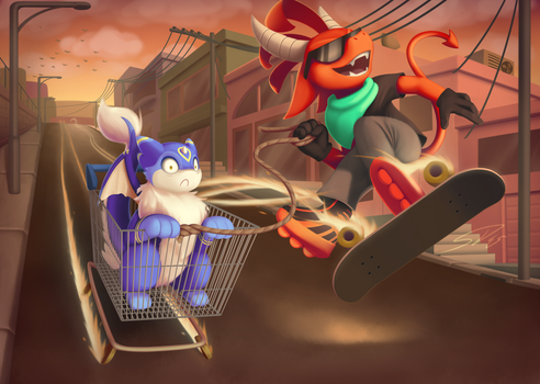 A Rad Evening Bro: Commission for Spongepierre by streetdragon95
