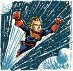 Captain Marvel In Space by TheCosmicBeholder